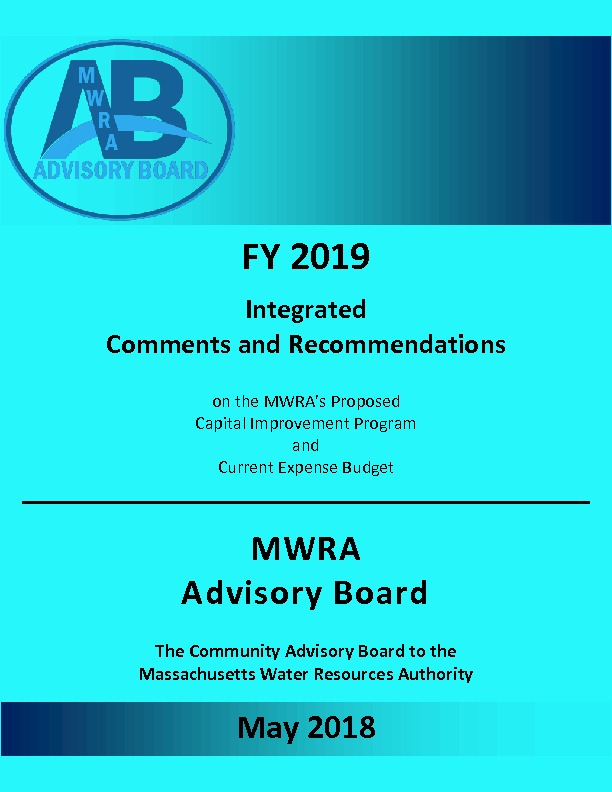 thumbnail of Proposed FY19 Comments and Recommendations